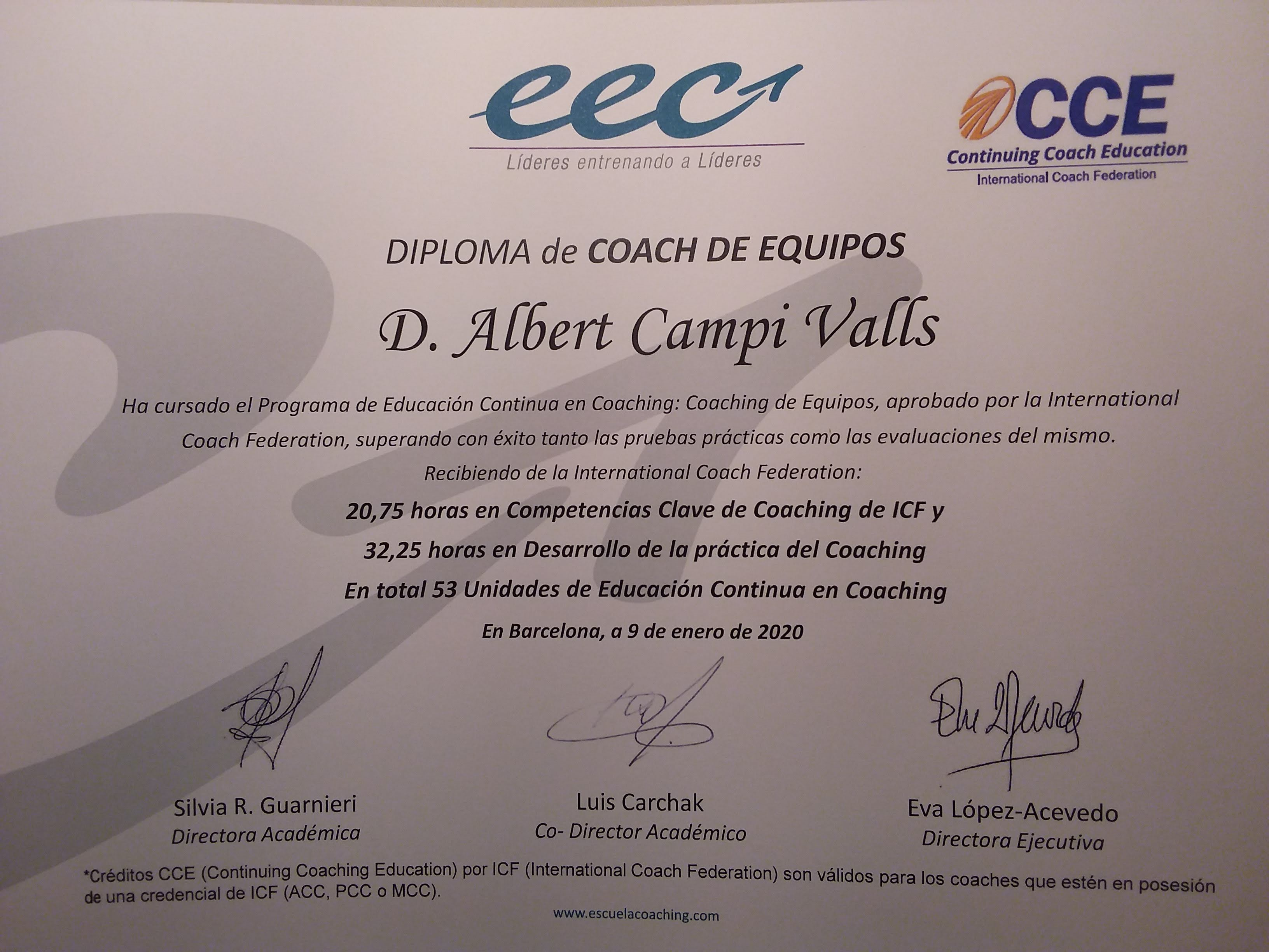 Coach de Equipos